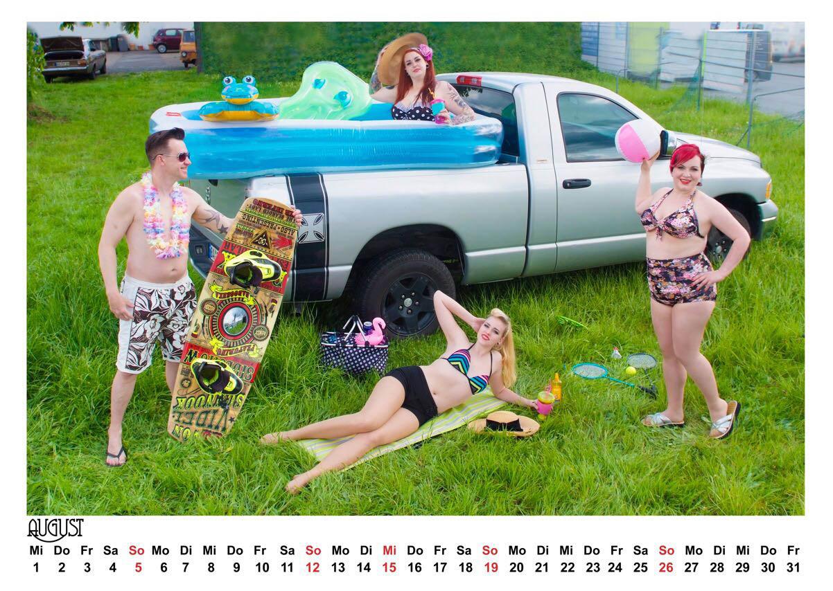 pin up kalender 2018 mit burlesquen motiven aus der. Black Bedroom Furniture Sets. Home Design Ideas